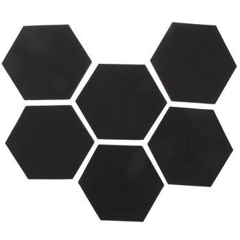 Hexagon Chalkboard Adhesive Wall Art