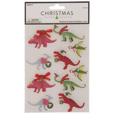 Christmas Dinosaurs 3D Stickers