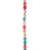 Turquoise, Pink & Orange Marble Glass Bead Strand