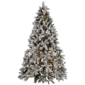 Flocked Bedford Pine Pre-Lit Christmas Tree  - 7 1/2'