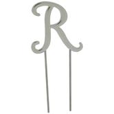 Letter Metal Cake Topper - R