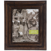 """Distressed Grooved Wood Wall Frame - 8"""" x 10"""""""