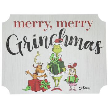 Merry, Merry Grinchmas Wood Decor- .80!