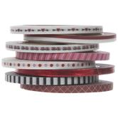 Red, White & Black Valentine Washi Tape