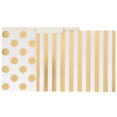 Gold Foil Dots & Striped File Folders With Labels
