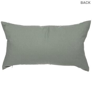 Green & White Striped Pillow