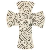 Prayer Power Wood Crosses