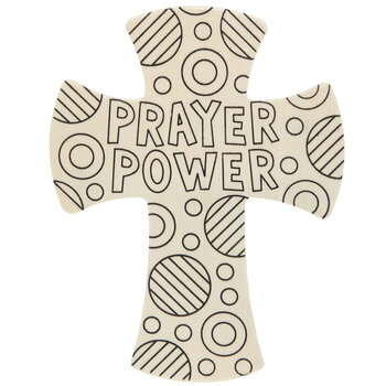Prayer Power Wood Crosses