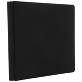 "Black Cloth Strap Hinge Scrapbook Album -  12"" x 12"""