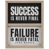 Success Is Never Final Wood Wall Decor