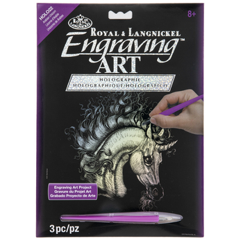 Arabian Unicorn Holographic Engraving Art Kit
