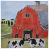 Cows & Red Barn Canvas Wall Decor