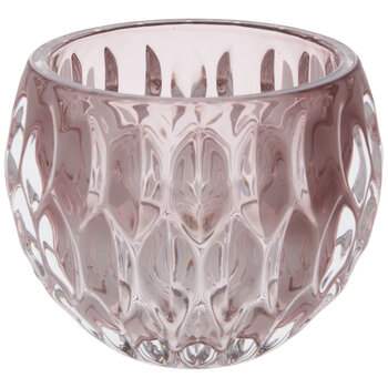 Pink Etched Glass Bowl