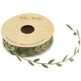 """Green Leaf Cutout Ribbon - 1"""""""