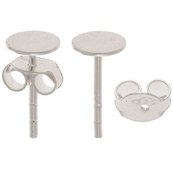 Sterling Silver Blank Ear Studs