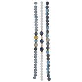 Blue & White Glass Bead Strands
