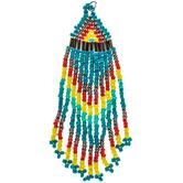 Multi-Color Seed Bead Tassel Pendant