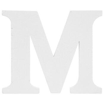 """White Wood Letter M - 3"""""""