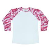 Camo Sleeve Adult Baseball T-Shirt