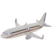 White Airplane Ornament
