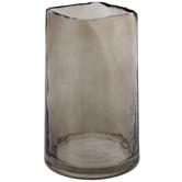 Brown Square Top Glass Vase