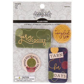 Yarnologist Flair Pins