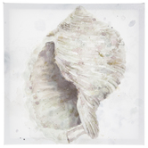 Seashell With Pebbles Canvas Wall Decor