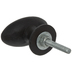 Rustic Brown Oval Metal Knob