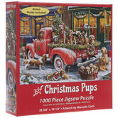 Christmas Pups In Truck Puzzle