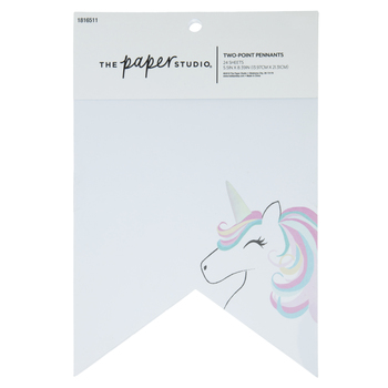 Unicorn Two-Point Pennants