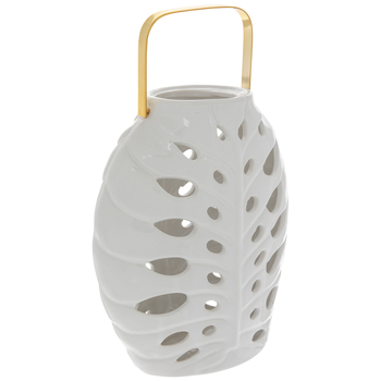 White Leaves Oval Lantern