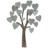 Corrugated Heart Tree Metal Wall Decor