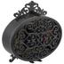 Black Ornate Oval Metal Clock