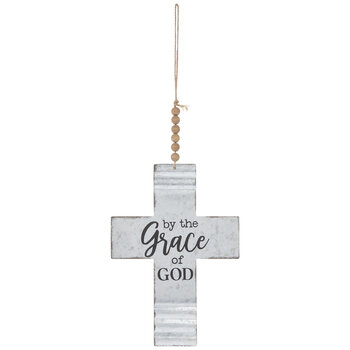 By The Grace Of God Metal Wall Cross