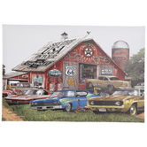 Laid Back Chevy Garage Canvas Wall Decor