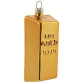 Gold Bar Ornament