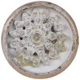 Cream Flower Metal Knob