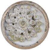 Cream Flower Metal Knob
