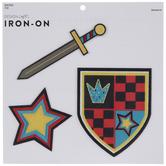 Sword, Shield & Star Iron-On Appliques