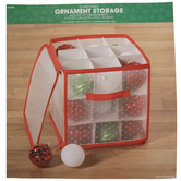 Polka Dot Ornament Storage Container
