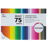 Bright Textured Cardstock Paper Pack