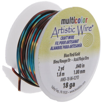 Blue & Red Artistic Wire - 18 Gauge