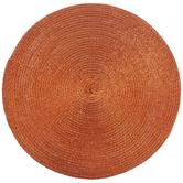 Orange Round Woven Placemats