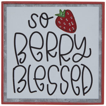 So Berry Blessed Metal Decor