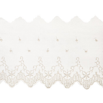 Scalloped Ivory Lace Trim