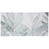 Green & Silver Leaves Canvas Wall Decor