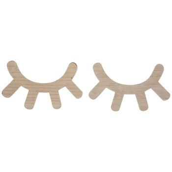 Eyelashes Wood Wall Decor Set