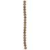 Gold & Brown Splatter Glass Bead Strand