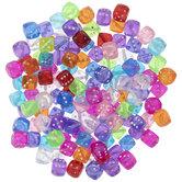 Multi-Color Translucent Dice Beads