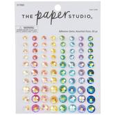 Rainbow AB Round Rhinestone Stickers